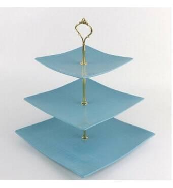 """Фруктовница Stenson Blue silk 6""""/8""""/10"""" 3 яруси MC3687 (36-938)"""