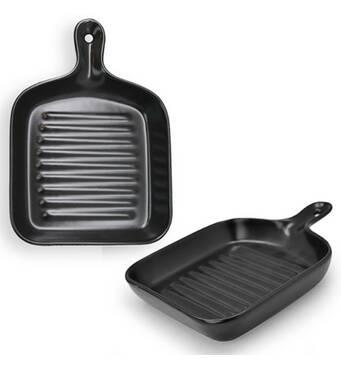 Блюдо сервіровка фарфорове  квадратне Stenson Гаряча сковорідка MC3680 - 8.75bl (36-933)