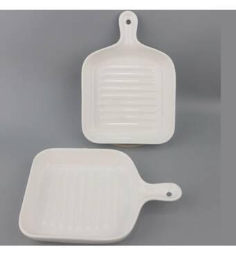 Блюдо сервировочное фарфоровое  квадратное Stenson Горячая сковородка MC3680-8.75W (36-934)