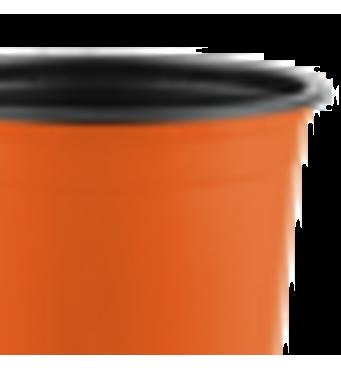 Горшок TEKU 0,29л 9x6,8см оранжевый