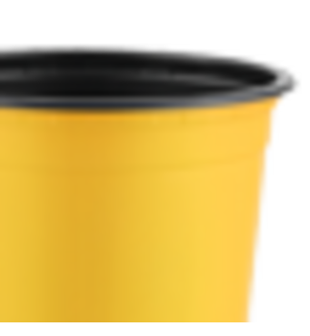 Горшок TEKU 0,69л 12x9,4см желтый