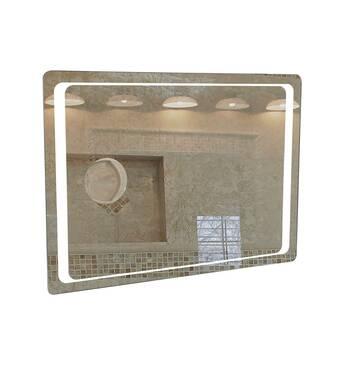 Дзеркало Омега Люкс 100 см з LED підсвічуванням Аква Родос