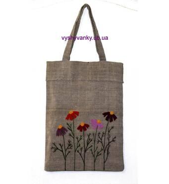 Торба вишита, з давнього полотна. ручна вишивка