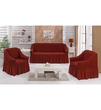 """Чохол на диван 2 крісла (Макси розмір) ТМ"""" Kayra"""".Туреччина. -ореховый"""