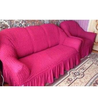 """Чохол на диван 2 крісла (Макси розмір) ТМ"""" Kayra"""".Туреччина. -розовый"""