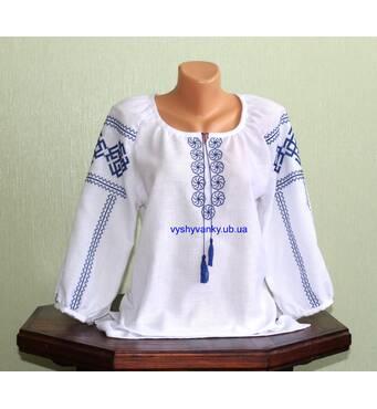 """Рубашка женская вышитая ручной работы """"Словянские обереги"""". Ладинец."""