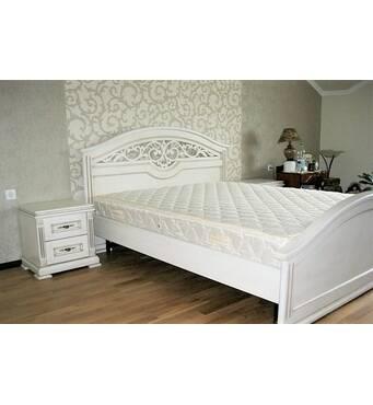 Дубовая двуспальная кровать Дея