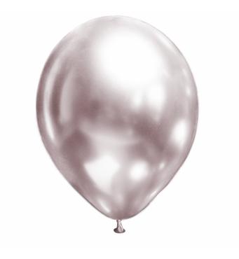 Воздушные шары Brilliance розовый жемчуг (хром), 50 шт/уп Show