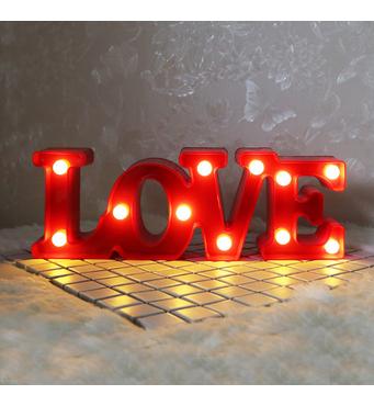 STK Ночник Love красный