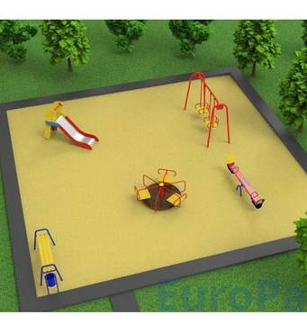 Проект дитячого майданчика площею 10*10м