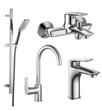 PL набір змішувачів (4 в 1) для ванни і кухні Imprese