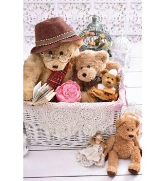 """Подарункові пакети """"Ведмедяча сім'я"""" 16 х 27 см   (6 шт/уп)"""