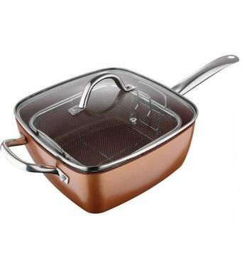 Сковорода фритюрниця пароварка 3 в 1 UNIQUE UN 5251, 24 см
