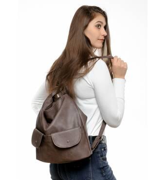 Купити жіночий рюкзак Sambag Asti XKH світло-коричневий нубук