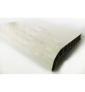 Подоконник ПВХ  Sauberg  450х1000 ламинация  белый дуб