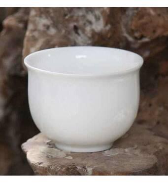 Пиала белая для чая фарфоровая белая, 60 мл