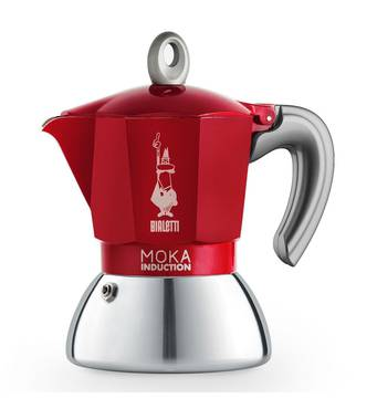 Гейзерная кофеварка Bialetti Moka Induction Red NEW (4 чашки - 150 мл )