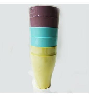Набор пластиковых стаканов Алеана 250 мл Mix (22-10)