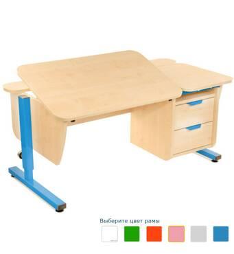 Письменный стол Школьник с тумбой на 2 ящика регулируемый по высоте   Детский письменный регулируемый стол Шко