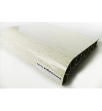 Подоконник ПВХ  Sauberg  100х1000 ламинация глянец белый дуб