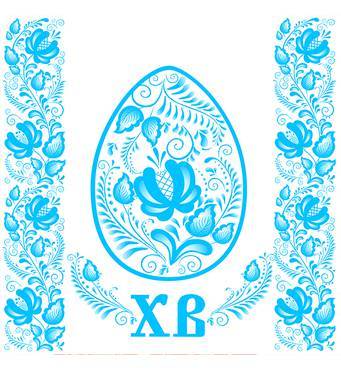 """Салфетка  ТМ """" La Fleur""""  ЗЗхЗЗ,  2 слоя """"Голубой декор"""" 20шт."""
