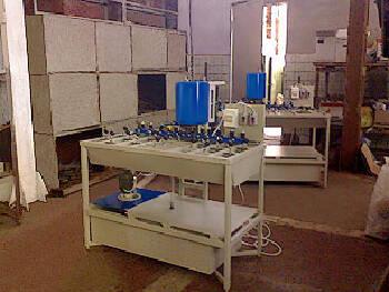 Изготовление станков для шлифовки и фацетирования листового стекла и зеркал