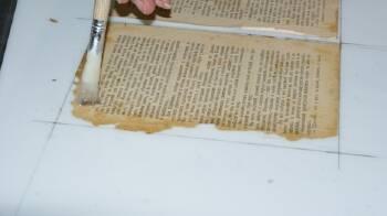 Реставрація блоку сторінок. Рятуємо книги від загибелі!