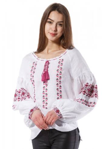 Вишивка лляних жіночих блузок в Україні