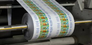 Флексографская печать на рулонных самоклеящихся материалах