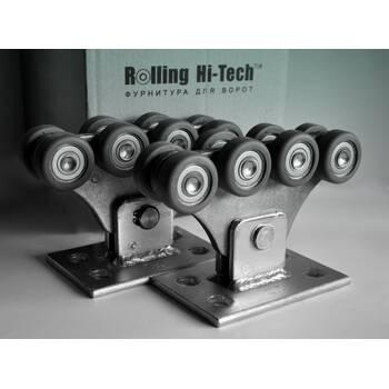 Фурнитура для откатных ворот: Усиленный комплект до 350кг(полимерные ролики)
