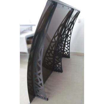 Металлический сборный козырек Dash'Ok Хайтек 2,05 м*1,5 м с монолитным поликарбонатом 4 мм купить в Ужгороде