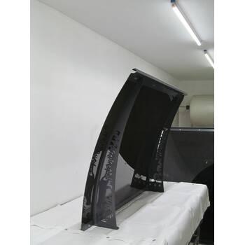 Металлический сборный козырек Dash'Ok Хайтек 1,5 м*1 м с монолитным поликарбонатом 3 мм купить в Луцке