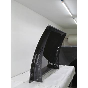 Металлический сборный козырек Dash'Ok Фауна 2,05 м*1,5 м с монолитным поликарбонатом 3 мм купить в Тернополе