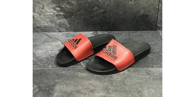 Шлепки мужские красные с черным Adidas 5440