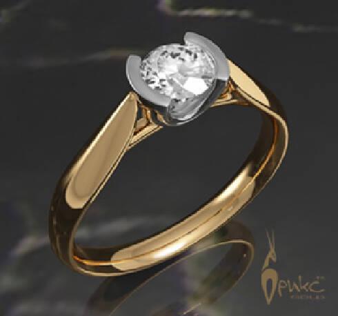 Кольцо с одним бриллиантом цена