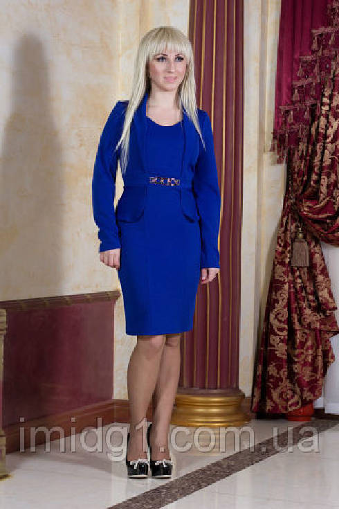 6584786afe00558 Стильное синее платье большого размера купить - Фотогалерея стильной ...