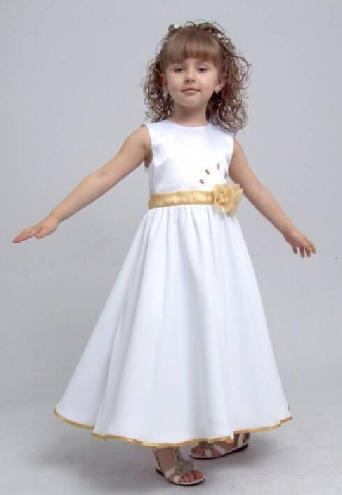 719e8db5617dc9 Святкові плаття для дівчаток з атласу / Праздничные платья для девочек из  атласа