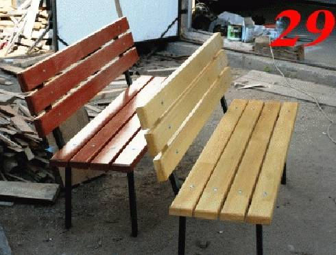 Сделать скамейку из металла и дерева