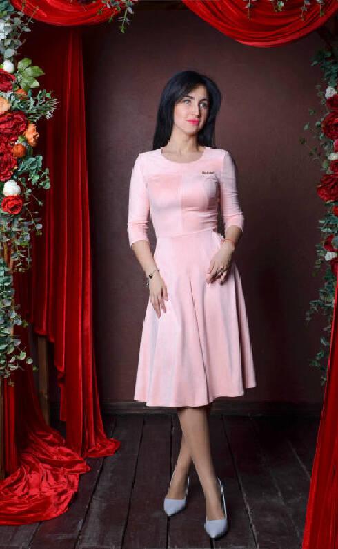 Женское замшевое платье 66898778d0a79