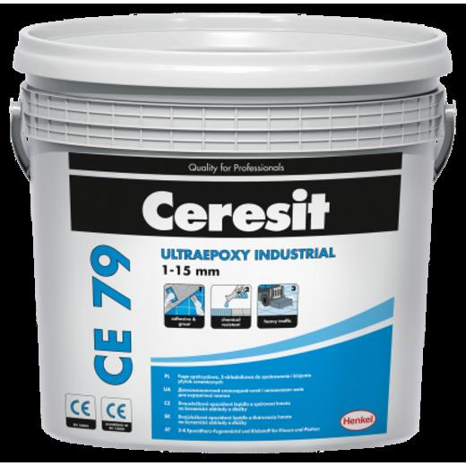 Ceresit CE 79 Ultraepoxy Industrial Епоксидний двокомпонетний заповнювач швів та клей для плитки 710 світло-сірий