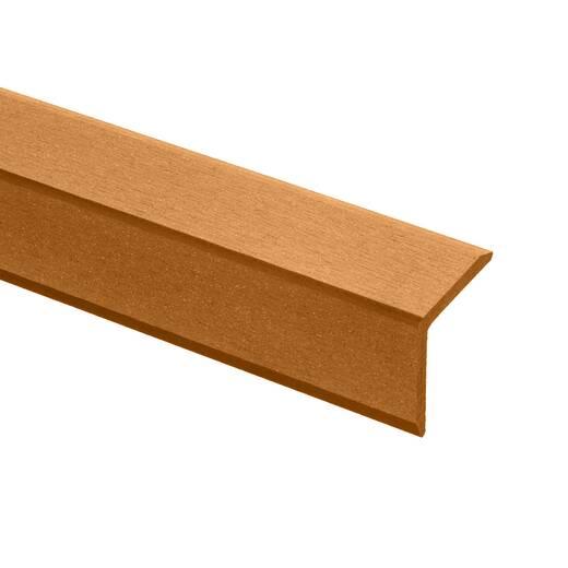 Кутик торцевий Brush  47х47х3000 мм колір Бук