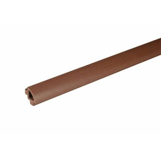 Профіль овальний 2400 мм колір Горіх