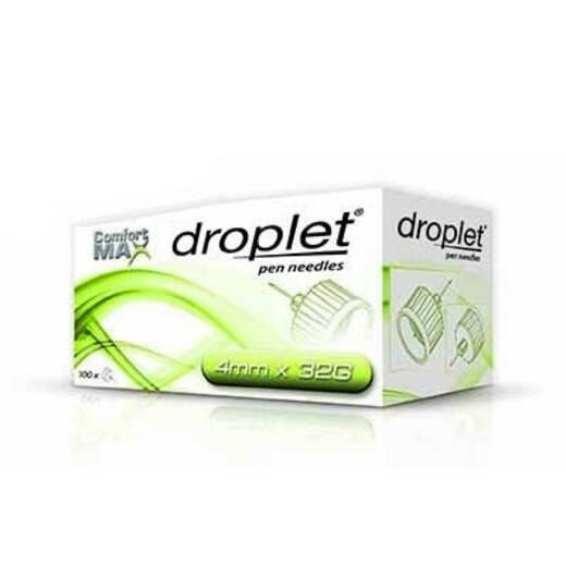Иглы для инсулиновых шприцов-ручек Droplet 4 мм 32G 100 шт.