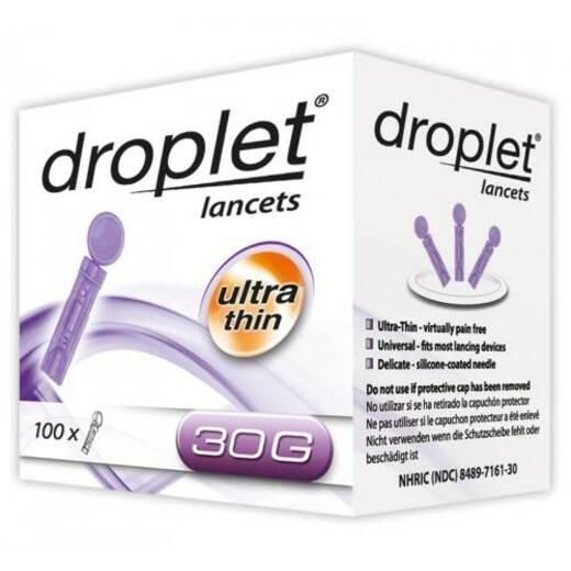 Ланцеты Droplet 30G, 100 шт.
