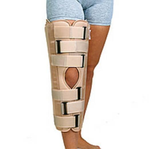 Тутор колінного суглобу з боковими і задніми жорсткими пластинами, універсальний, 60 см