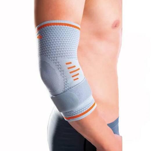 Спортивний м'який налокітник з силіконовими подушечками і ременем для фіксації