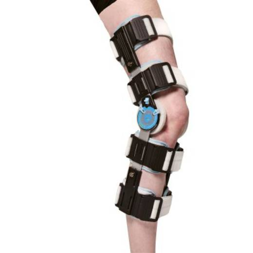 Бандаж/ортез шарнірний післяопераційний для колінного суглоба регульований з системою фіксації