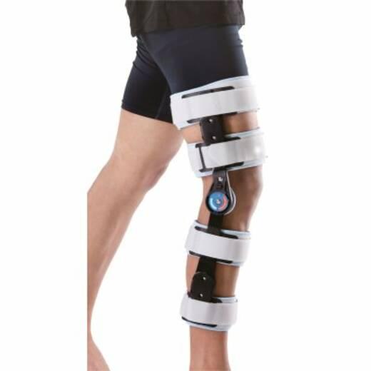Бандаж/ортез шарнірний післяопераційний для колінного суглоба регульований з обмежувачами згинання