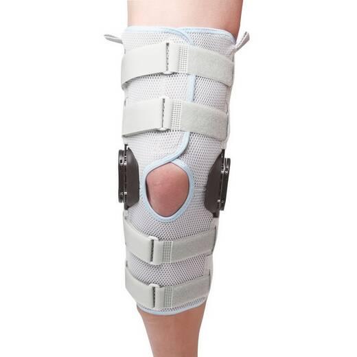 Бандаж на колінний суглоб з шарнірами для контролю об'єму руху
