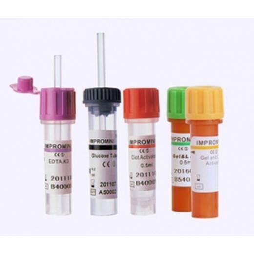 IMPROMINI Літій-гепарин з капіляром 0,2 мл, 0,5 мл